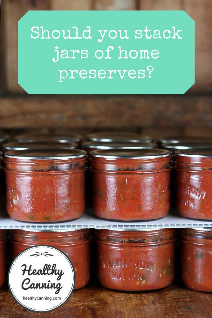 Beau Stacking Canning Jars In Storage