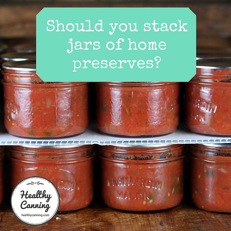 Stacking canning jars in storage