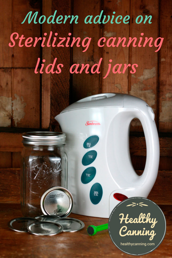 Sterilizing canning lids jars healthy canning for How long to sterilize canning jars