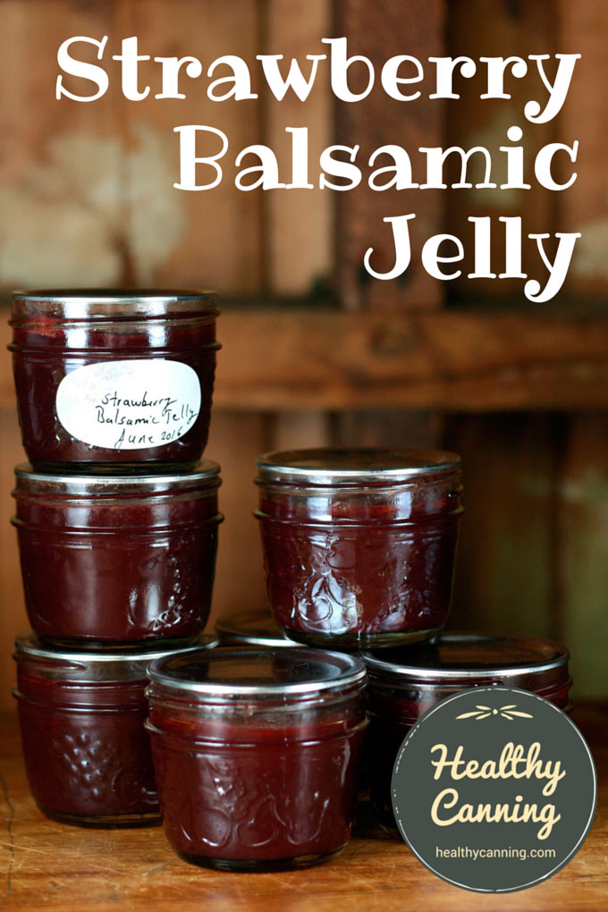 Strawberry Balsamic Jelly makes for a delicious alternative to making ...
