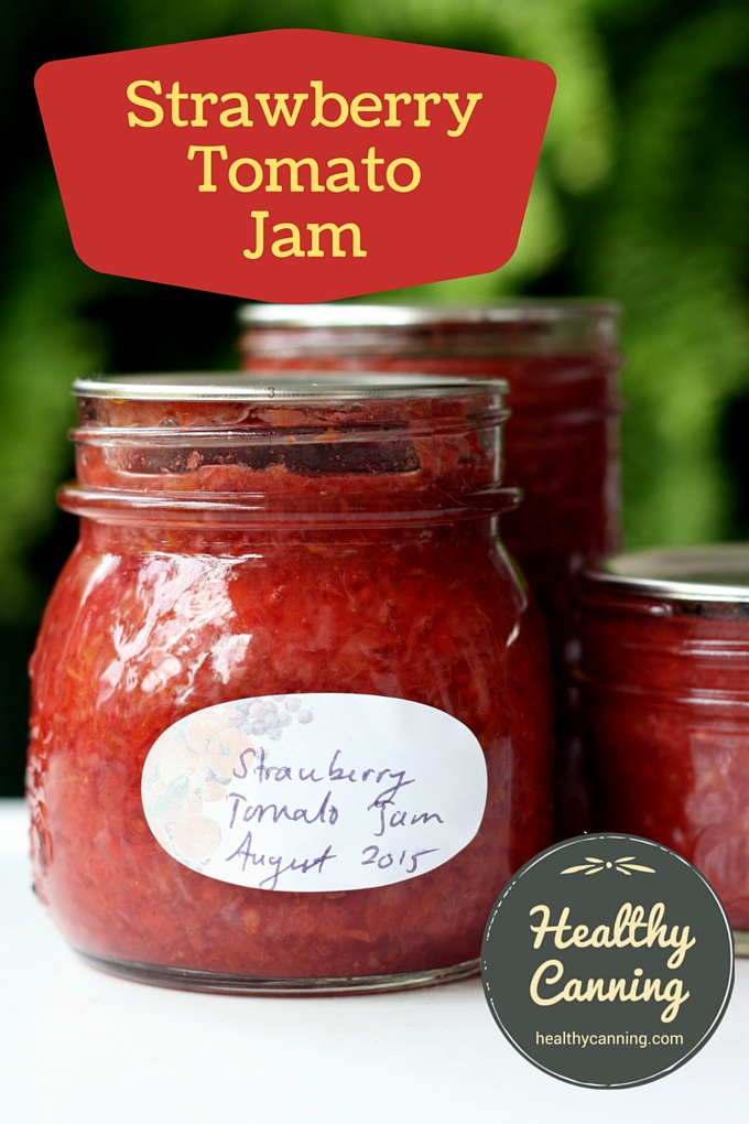 This Strawberry Tomato jam recipe treats tomatoes like the fruits they ...
