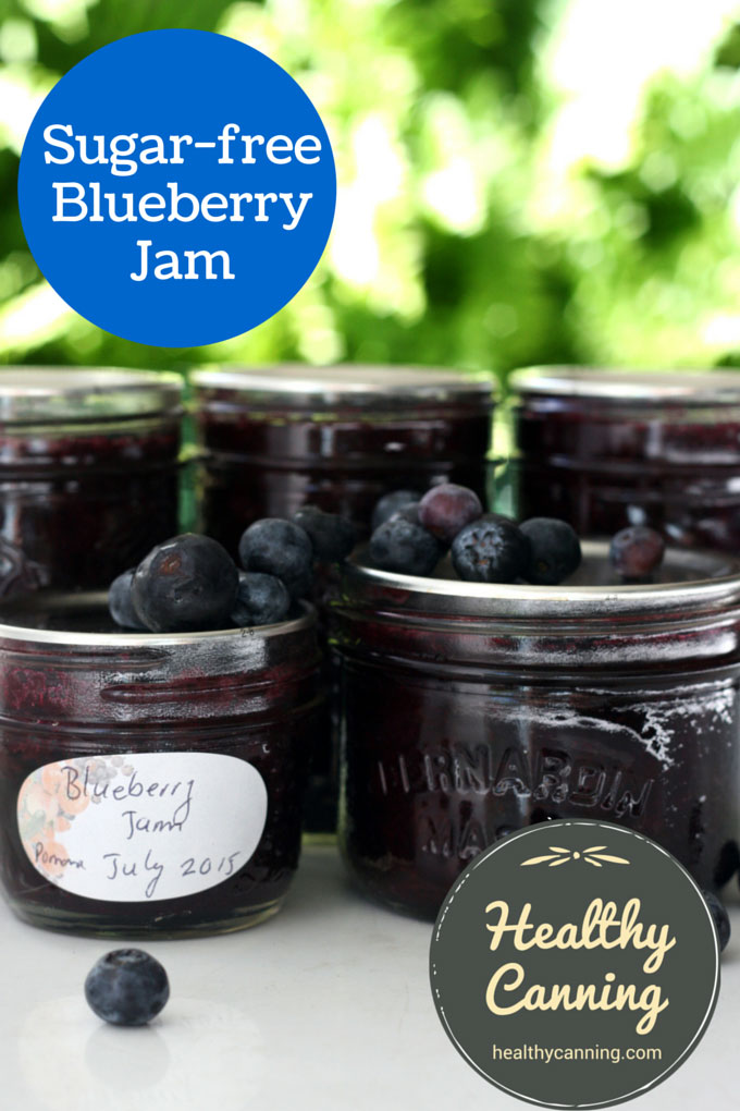 Sugar-free blueberry jam 005