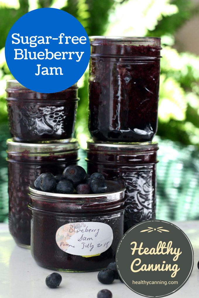 Sugar-free blueberry jam 006