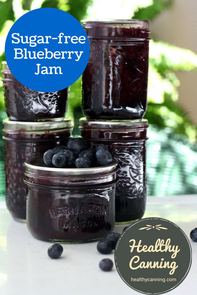 Sugar-free blueberry jam 007