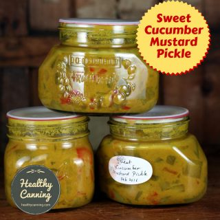 Sweet Cucumber Mustard Pickle