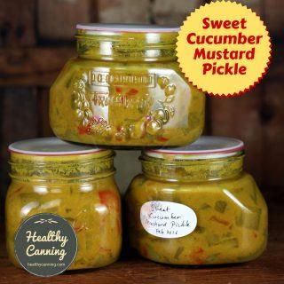 Sweet Cucumber Mustard Pickle