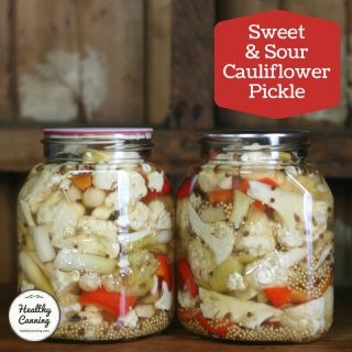Sweet and Sour Cauliflower Pickle