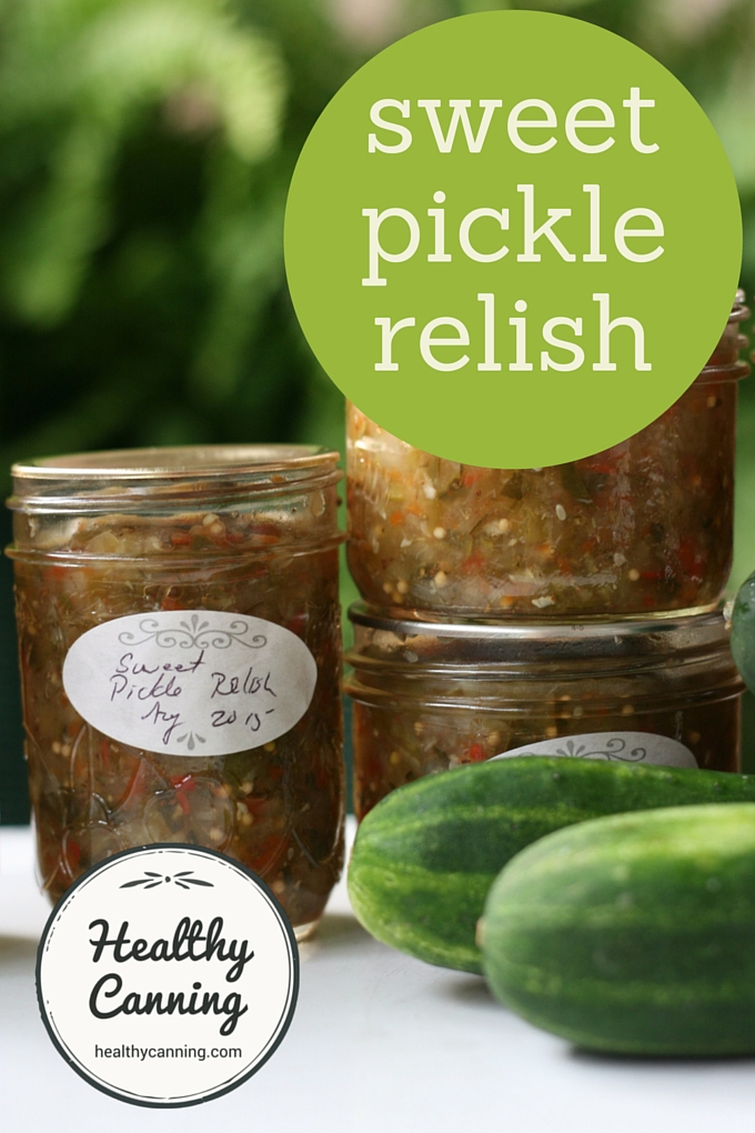 Sweet Pickle Relish Healthy Canning