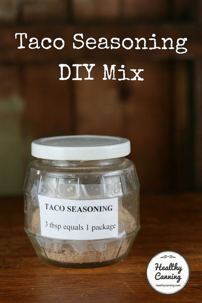 Taco Seasoning Mix Diy Healthy Canning