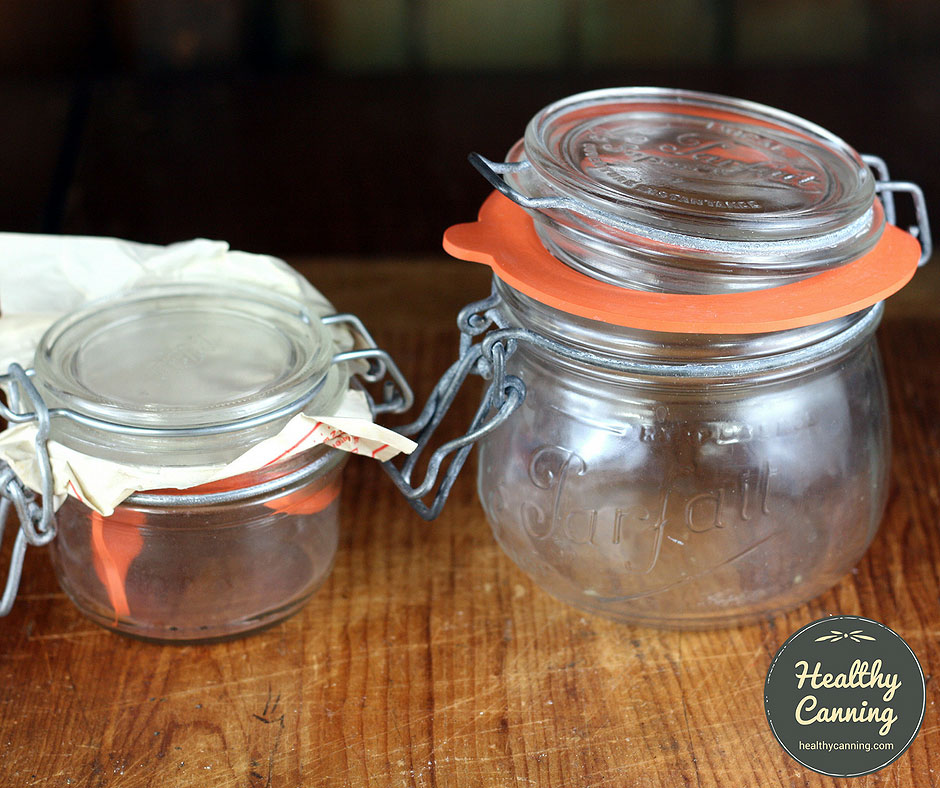 Terrine jar (left); bocal jar (right)