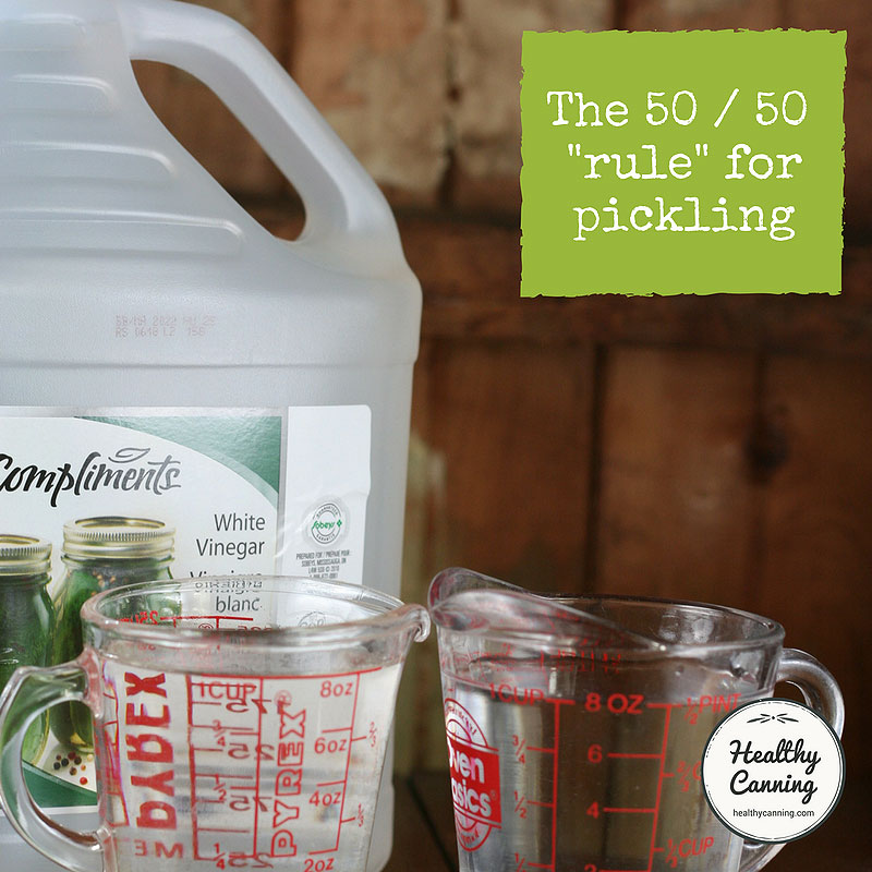 What is the 50 / 50 rule in pickling?