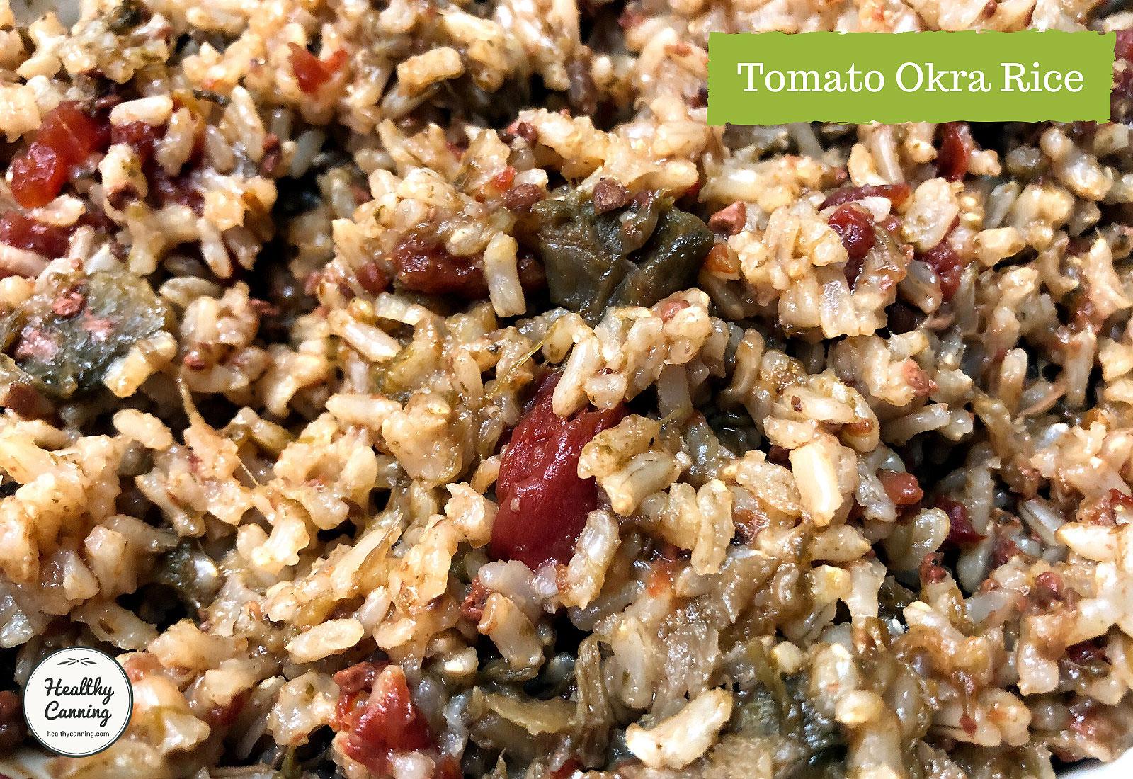Tomato Okra Rice