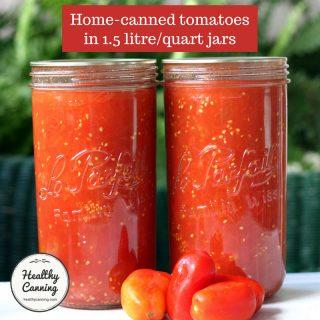 Tomatoes in 1.5 litre (quart) jars