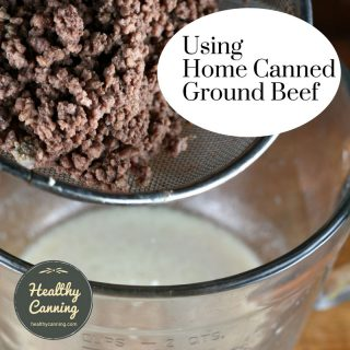 Using home canned ground beef