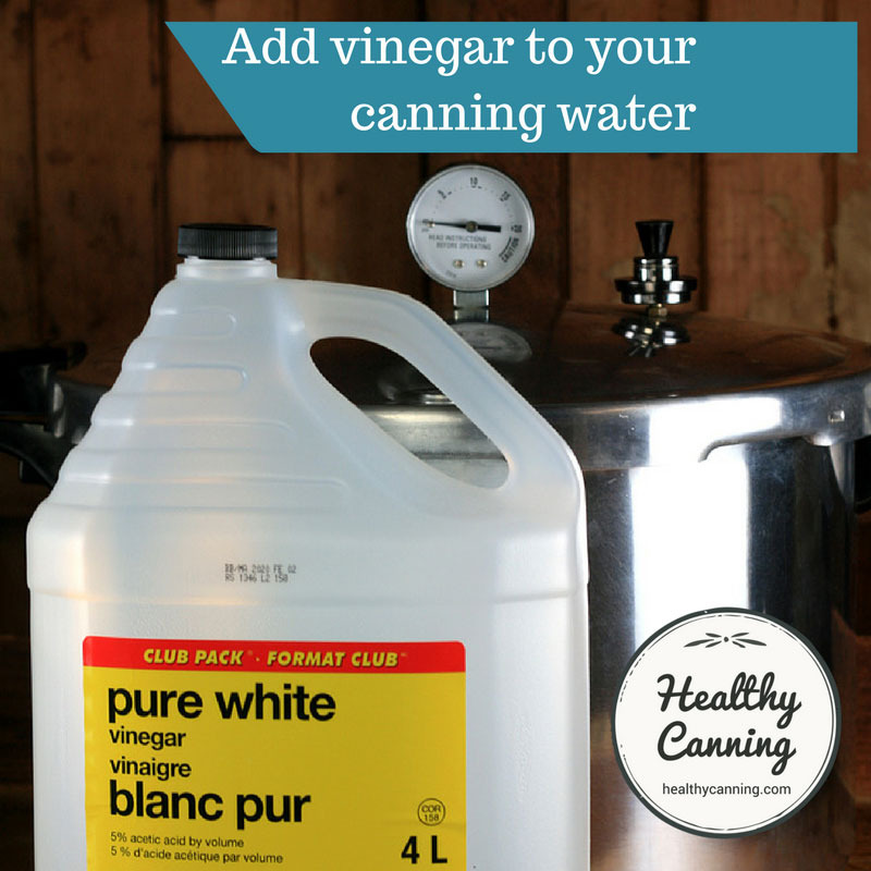 Vinegar in canning water