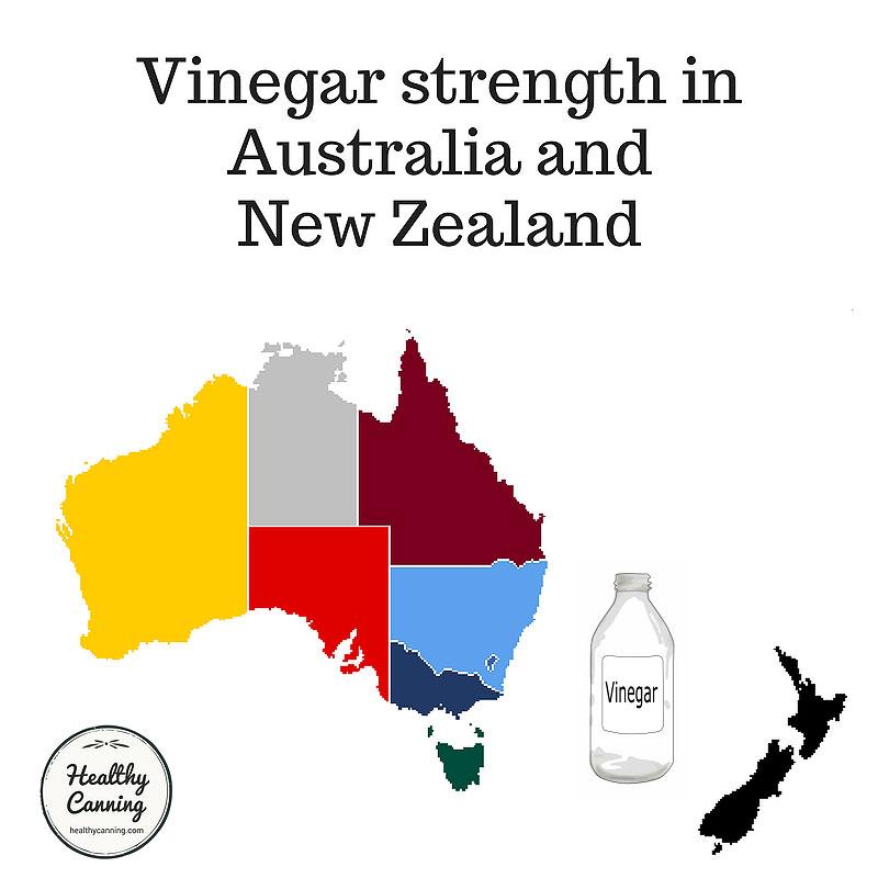 Vinegar strength in Australia and New Zealand