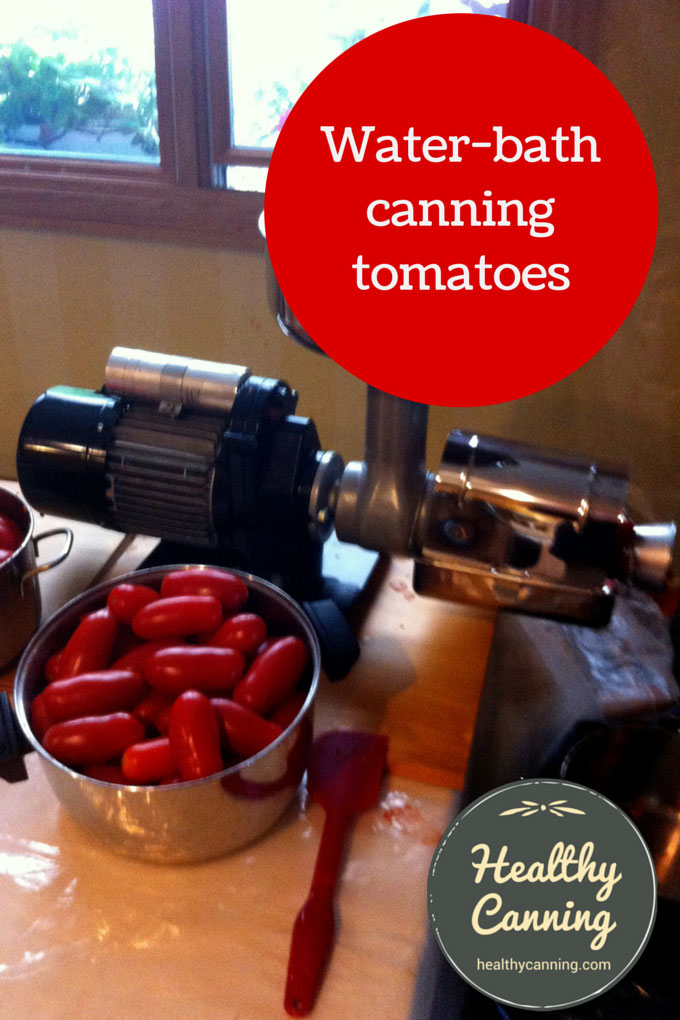 Water-bath canning tomatoes 002