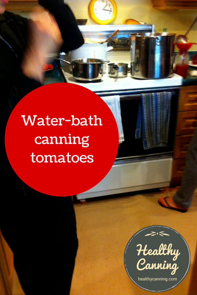 Water-bath canning tomatoes 003