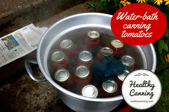 Water-bath canning tomatoes 008