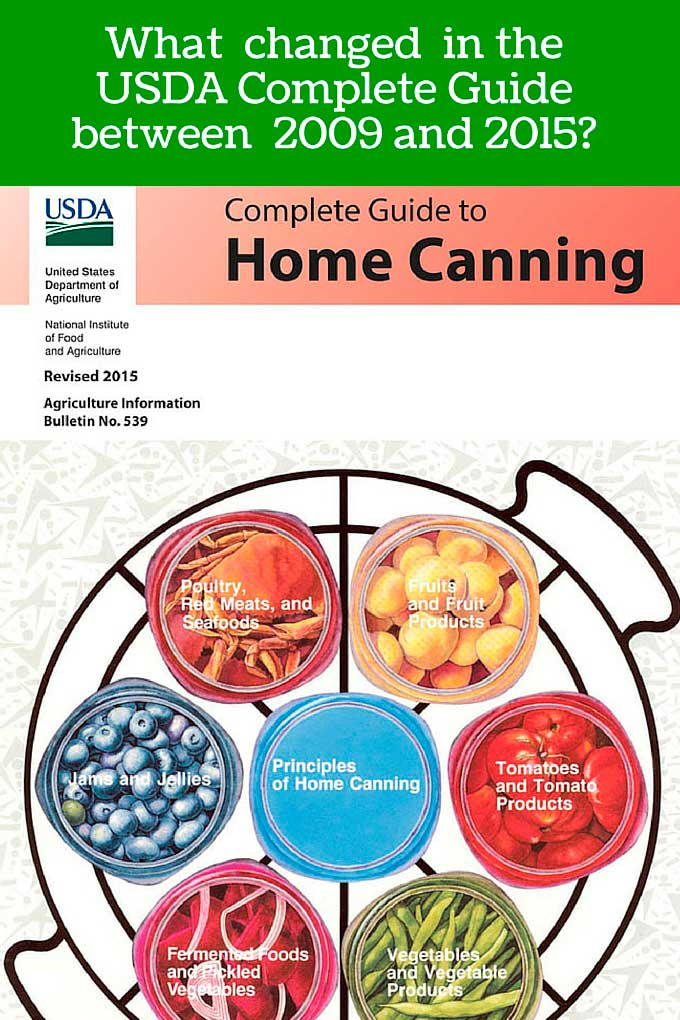 What changed in the USDA Complete Guide between 2009 and 2015?