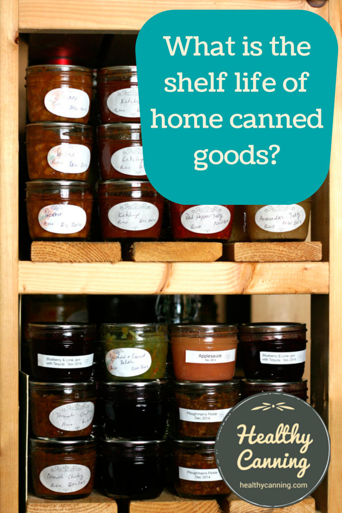 What Is The Shelf Life Of Home Canned Goods Healthy Canning