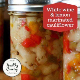 White Wine and Lemon Marinated Cauliflower