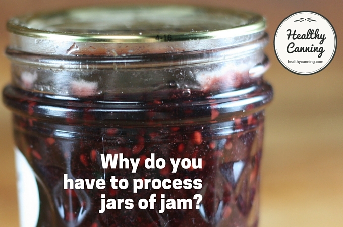 Why do you have to process jars of jam?