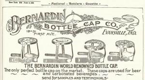 bernardin bottle cap ad 1900