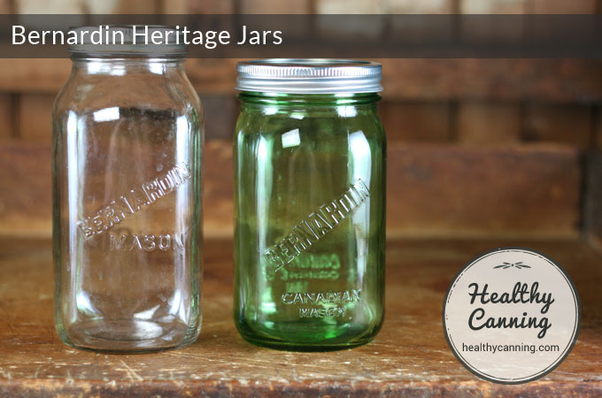 At one point, Bernardin released a clear jar with a less ornate logo on it.