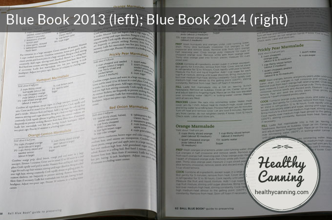 The recipes are more wordy in the 2014 37th edition, in an attempt to help people understand the measurements more.