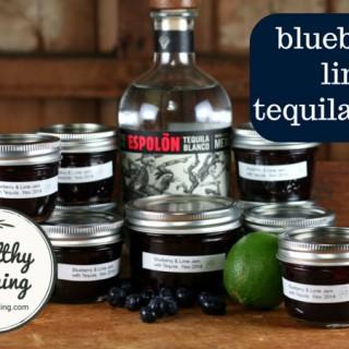 Blueberry Lime Tequila Jam Sugar-Free (Ball / Bernardin)