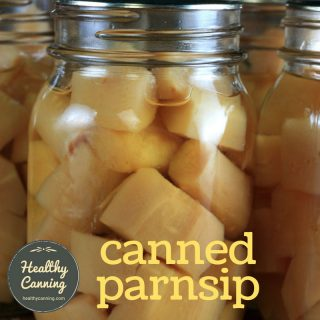 Canning parsnip