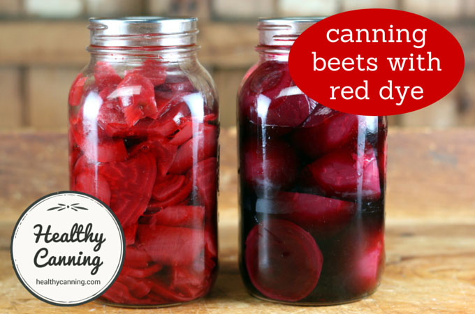 canning beets with red food dye 002