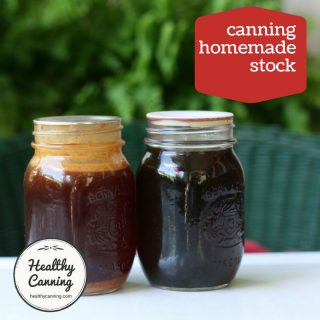 Canning homemade stock