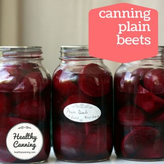 Canning plain beets