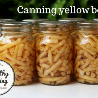 Canning yellow wax beans