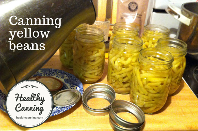 canning yellow beans 005