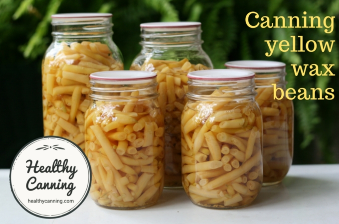 canning yellow beans 008