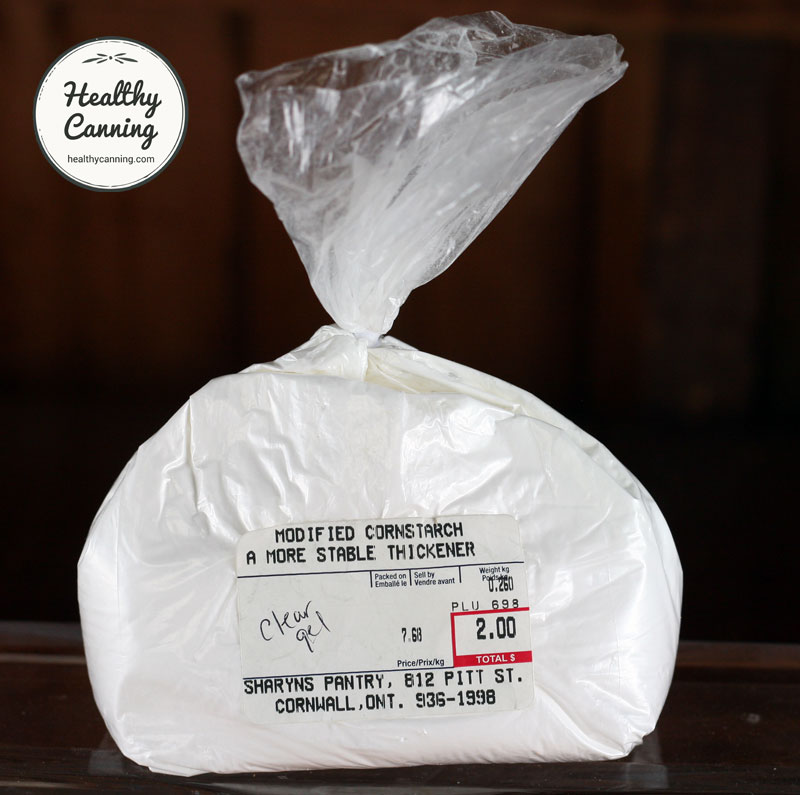 Clearjel from Sharon's Pantry in Cornwall, Ontario. $7.68 / kg (2016 prices)