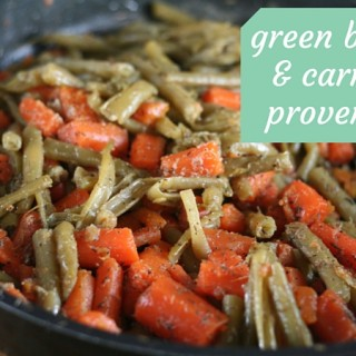 Green beans and carrots provençal