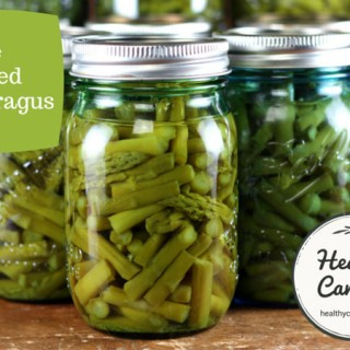 Canning asparagus
