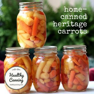 Canning heritage carrots