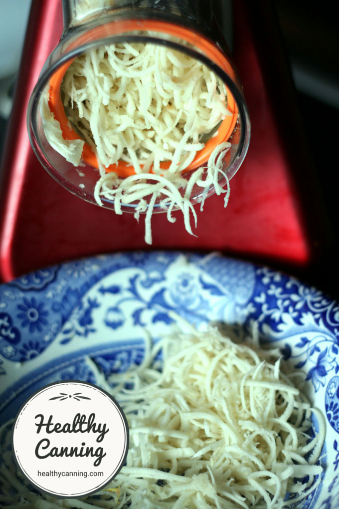 Food mill: like shredded cheese