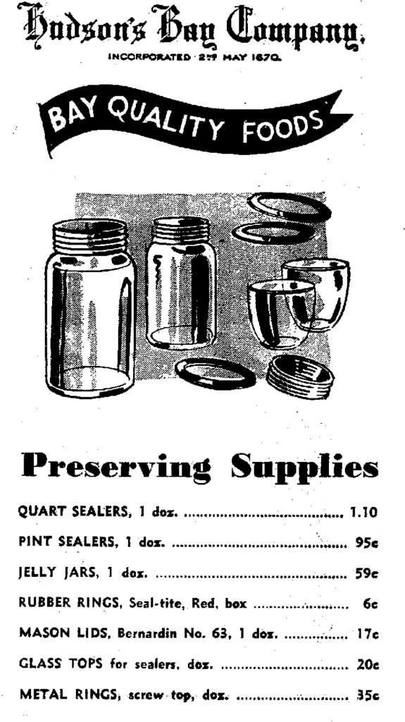 Canadians used to call Mason jars sealers.