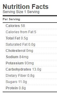 lady ross relish nutrition regular
