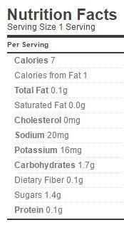 pickle slices nutrition regular