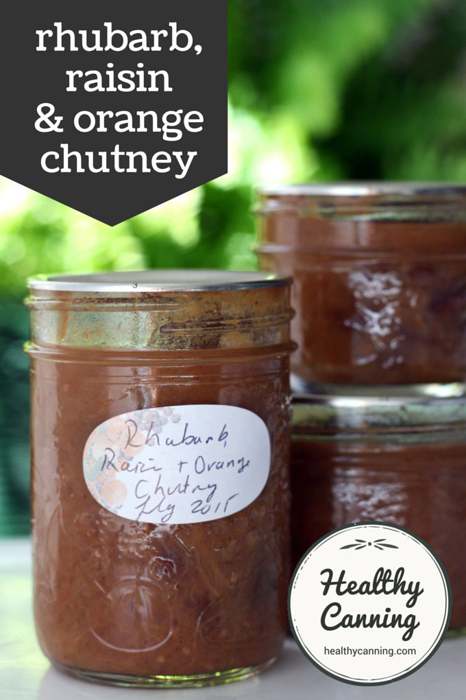 rhubarb, raisin and orange chutney 003