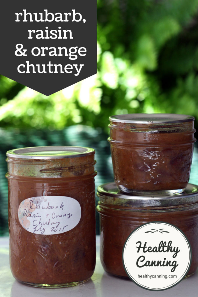 rhubarb, raisin and orange chutney 004