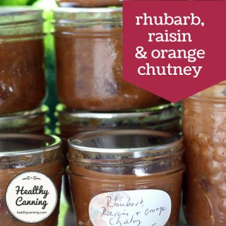 Rhubarb, Raisin and Orange Chutney