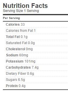 rummage relish nutrition regular